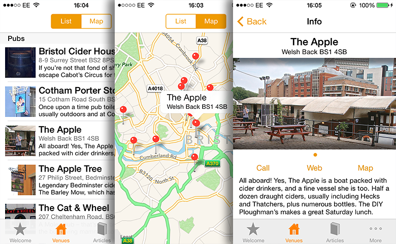 The Naked Guide to Cider iPhone app